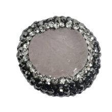 Acero DIY 21 * 21m m de la joyería del grano de la piedra preciosa del cristal de la energía