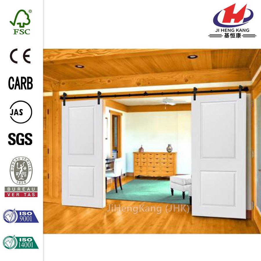 China 80 inch 15 lite popular double barn door manufacturers for 40 inch barn door