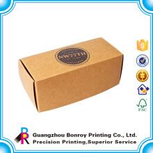 Gewohnheit bereiten Wegwerfkraftpapier-Pappbrot-Brotdose für Kinder auf