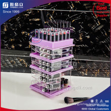 Purple Acrylic Lipstick Holder with Diamond