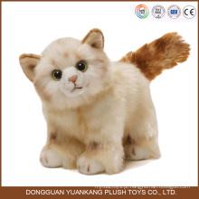 Atacado china fábrica animal cat brinquedos de pelúcia de alta qualidade ordem pequena