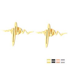 Goldherzschlag-Bolzen-Ohrring schöner Edelstahl-Ohrring für Mädchen