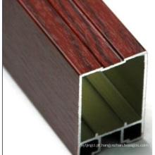 Cor de madeira Alumínio Extrusão de perfil de construção de alumínio