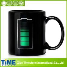 Tasse de café de tasse de tasse de thé de tasse de sensibilité de couleur de batterie de technologie (CM-001)