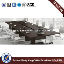Modern Big Size Walnut Melamine Rectangle Office Meeting Conference Table (HX-5N151)