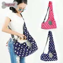 Dots Canvas Mains Libres Chat Sac de Transport Doux Unique Épaule Animal Voyage Sac Respirant Air Mesh Chien Chat Lapin Pet Carrier Bag