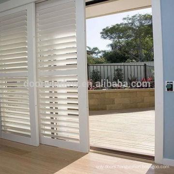 Classical wood door model interior door panel bathroom sliding louvered doors