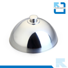 Popular Chinese Stainless Steel Food Cover & Metal Dish Cover with Silver Dome
