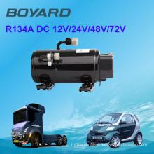 car air condition kit 12v dc air conditioner parts R134A BLDC compressor for Excavator Dozer drive cabin 12V 24v