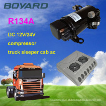 Camping car R134A 12v / 24v condicionador de ar portátil kompressor para telecom container carro máquina de ar condicionado