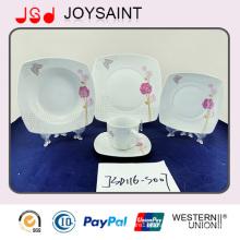 Hot Selling Square Porcelain Decal Dinner Sets