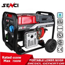 7KW CE certificó el poder más bajo portátil del generador diesel del ruido