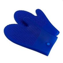 Silicone Hot Kitchen Pot Holder Glove Oven Mit (EB-93256)