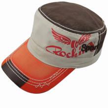 Chapeau d'armée de coton lavé / capuchon plat / casquette militaire