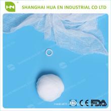 Con CE FDA ISO certificada algodón puro blanco descartable estéril algodón bola de algodón