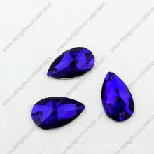 El terciopelo púrpura de la gota posterior plana cose en Rhinestone barato del proveedor de China