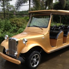 Luxury electric classical golf cart with CE for hote