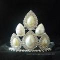 Atacado coroa princesa coroas princesa para as meninas, de alta qualidade pérola Tiaras Pearl Wedding Tiara