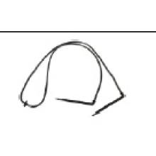 Hohe Qualität Zwei Zweige Bend Arrow Dripper