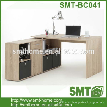 modern K/D melamine bookcase with study table
