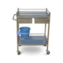 Chariot à instruments médical en acier inoxydable pour étagères