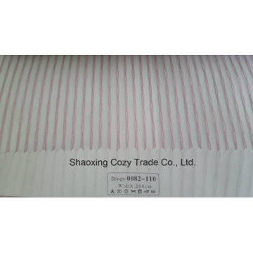 New Popular Project Stripe Organza Voile Sheer Curtain Fabric 0082110