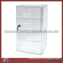 Transparent Square Hot Selling Acrylic/Perspex Display Cabinet with Lock