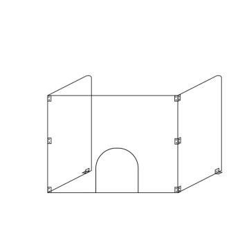 Protection isolante en plastique sur mesure Covid19