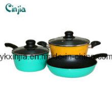 Набор кованых антипригарных кухонных принадлежностей, сковорода, кастрюля с молочной кастрюлькой