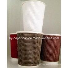 Desechable de la taza de papel corrugado