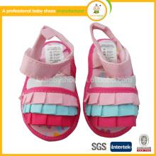 2015 новая мода дешевые кружева сандалии ребенок обувь детская обувь