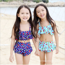 Little Girls Blue Fashion Swimsuit