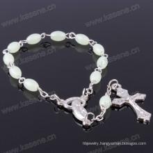 Noble Oyster White Shell Bead Shell Cross Rosary Bracelets