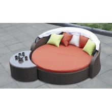 Praia de cama ao ar livre do Rattan salão Design moderno