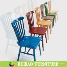 Nuevos diseños de la venta caliente de muebles modernos franceses antiguos Cafetería de madera que cena la silla