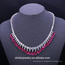 Bijoux de luxe bijoux en plaqué or bijoux en plaqué or ensembles pendentif en argent sterling