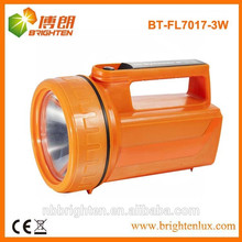 Pesado 4XD batería de largo alcance 3w LED linterna portátil, linterna de mano led, luz de búsqueda