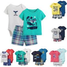 Newborn Baby Clothes 100% Cotton Baby Boy Romper Printed Baby Onesie
