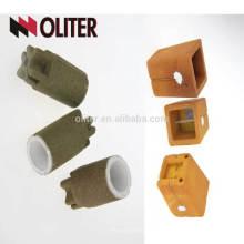 Mesure de silicate à teneur en CEL avec coupelle d'analyse thermique en carbone de type carrée ou ronde en tellure pour la fonte