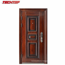TPS-061 Morden House Steel Door Design with Heat Transfer Wooden Color