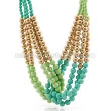 Имитация жемчуга цепи ручной работы вязать элегантные партии ожерелье