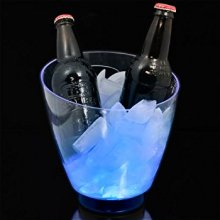 Plastic Beer Ice Bucket Clear Open Mouth