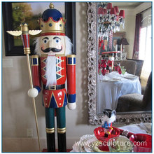 Christmas Decoration Life Size Fiberglass Nutcracker Statue