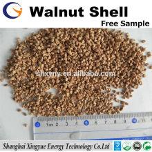 Médias filtrants de coquille de noix de 1-2 millimètres pour la séparation de l'eau d'huile