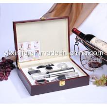 Ustensiles de cuisine Enrouleur de vin électrique en aluminium avec vaisselle pour vin, boîte à vin en bois