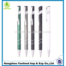 Professional retractable cheap metal clip aluminium ball pen