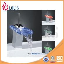 Torneira misturadora de lavatório de torneira de vidro com temperatura contemporânea (YL-8011)