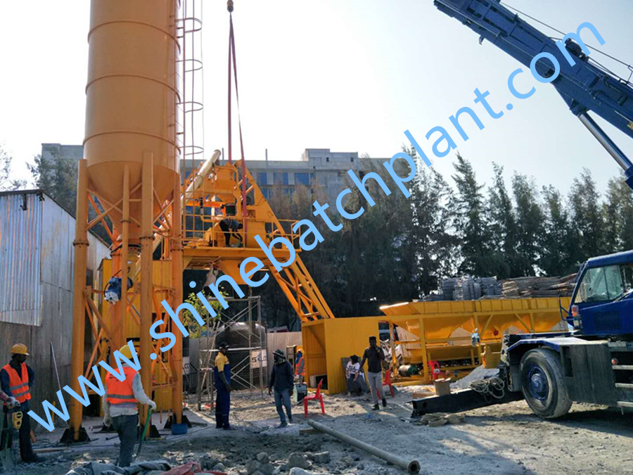No Foundation Mobile Concrete Batch Plant
