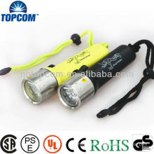 Stainless Steel Head XRE Q5 Led Diving Torch