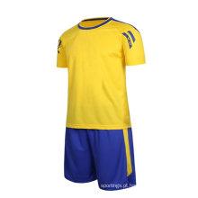 futebol jersey kit novo modelo de preço barato por atacado uniforme de futebol de futebol
